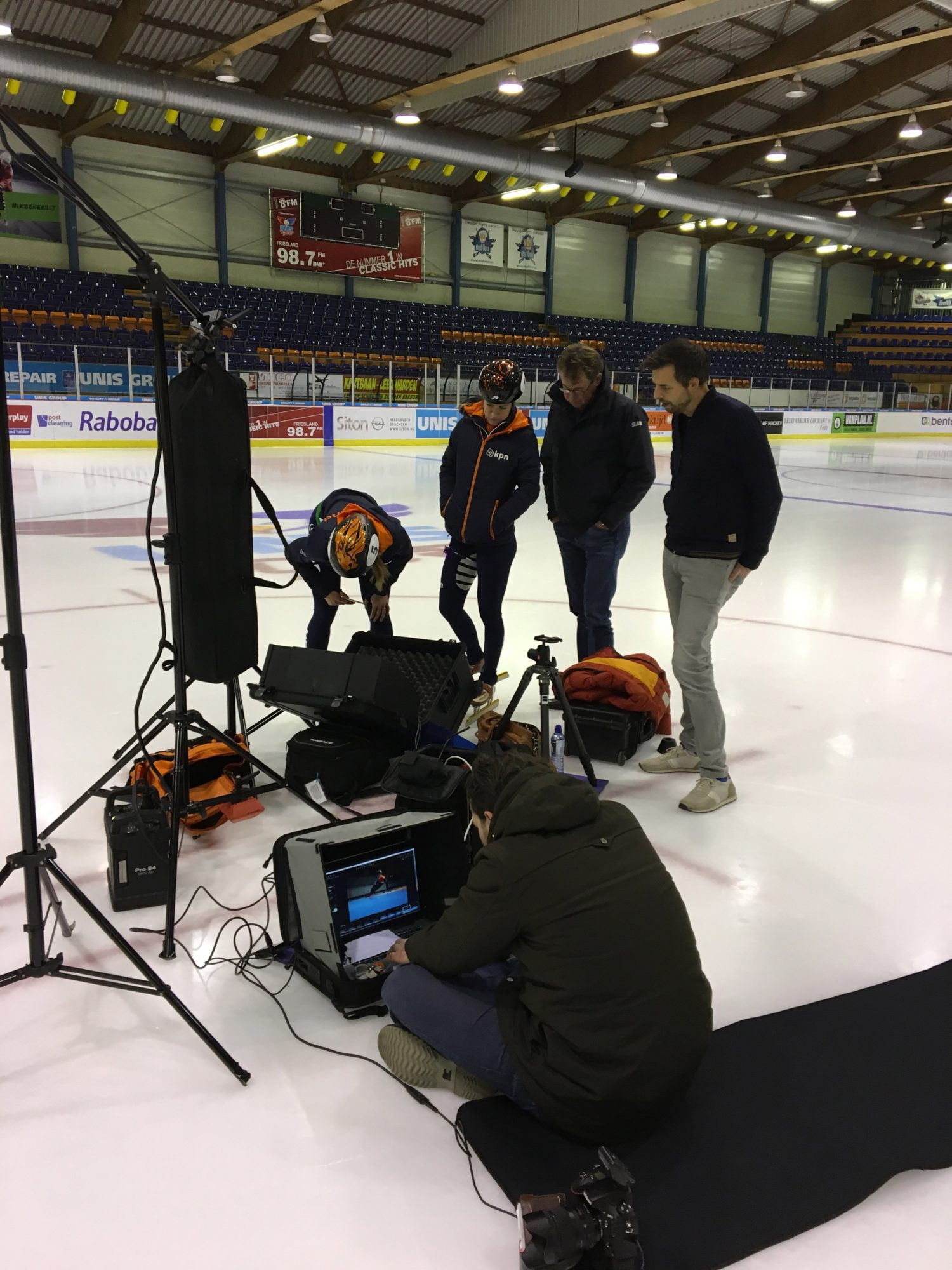Shooting the World Championships Shorttrack campaign in Thialf